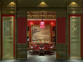 中式 别墅 大户型 跃层 复式 舒适 餐厅图片来自高度国际姚吉智在龙山新新小镇800㎡新中式大宅的分享