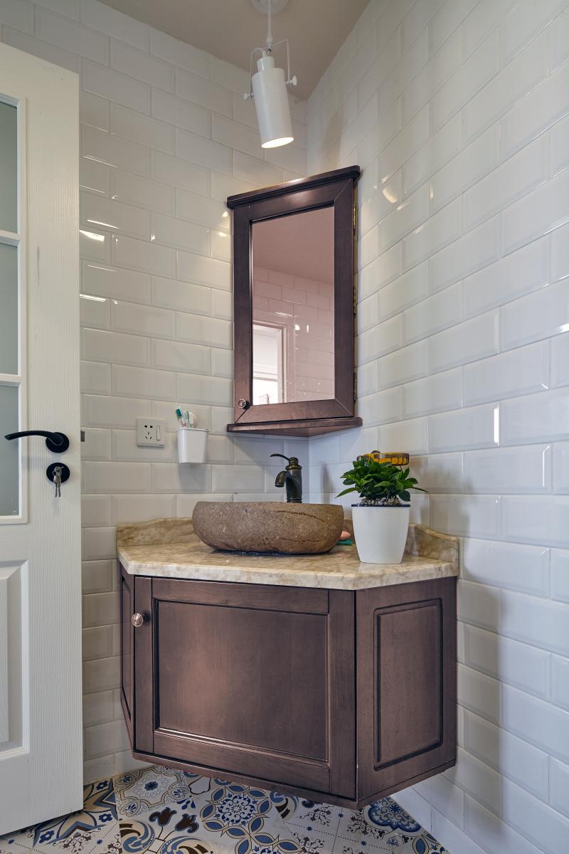 简约 混搭 二居 旧房改造 田园 收纳 卫生间图片来自盒子设计在觅的分享