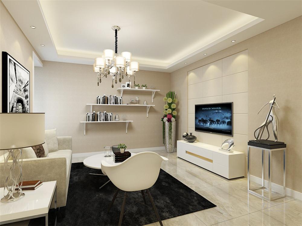 现代 三居 三口之家 户型紧凑 动静分明 客厅图片来自阳光力天装饰在力天装饰-东亚风尚国际-99㎡的分享