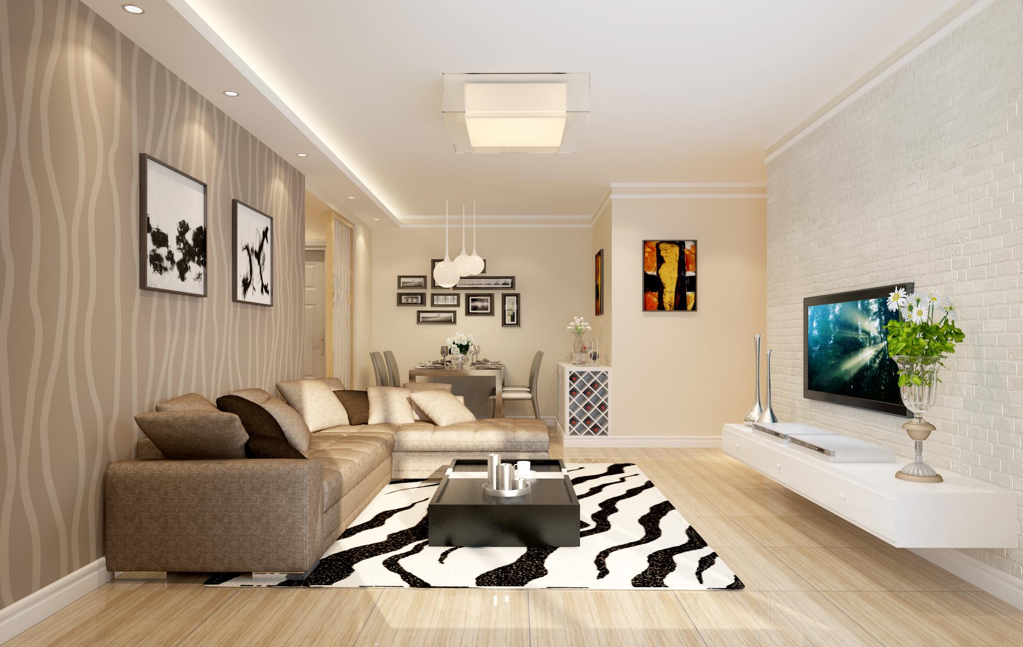 简约 现代 二居 80后 客厅图片来自林上淮·圣奇凯尚装饰在国风美唐简约风的分享