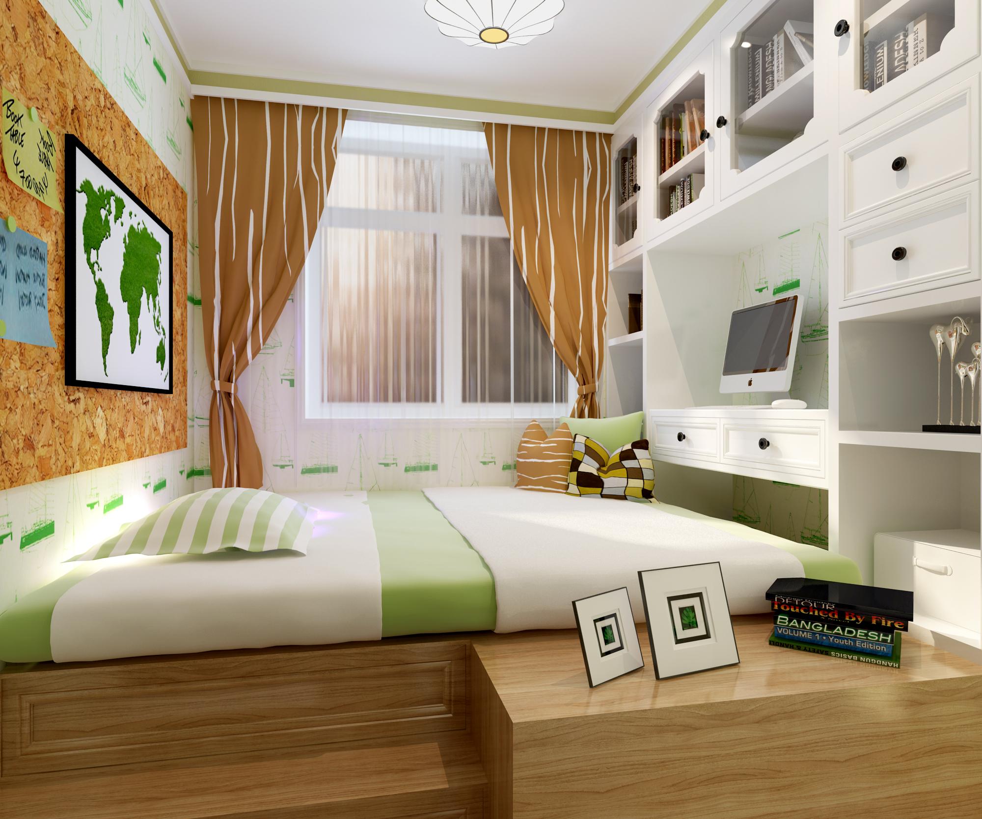 简约 现代 二居 80后 卧室图片来自林上淮·圣奇凯尚装饰在国风美唐简约风的分享