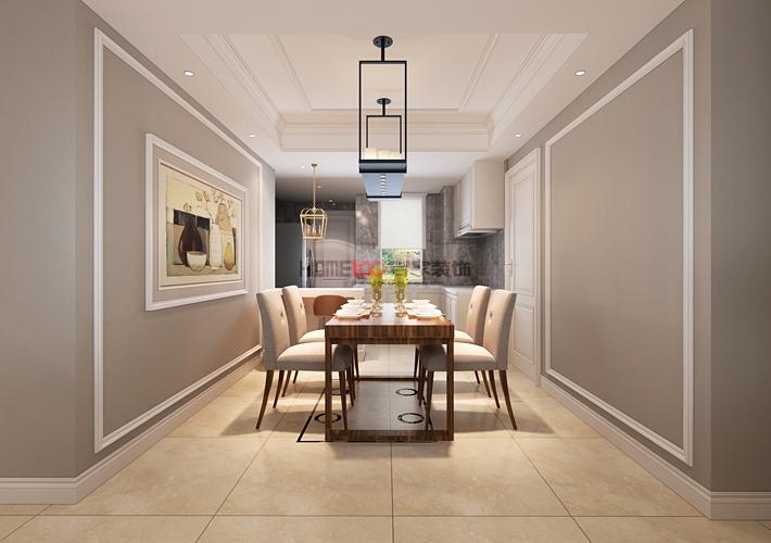 美式风格 沈阳装修 室内设计 80后 三居室 餐厅图片来自百家装饰--小莹在格林玫瑰湾 140平美式风格的分享