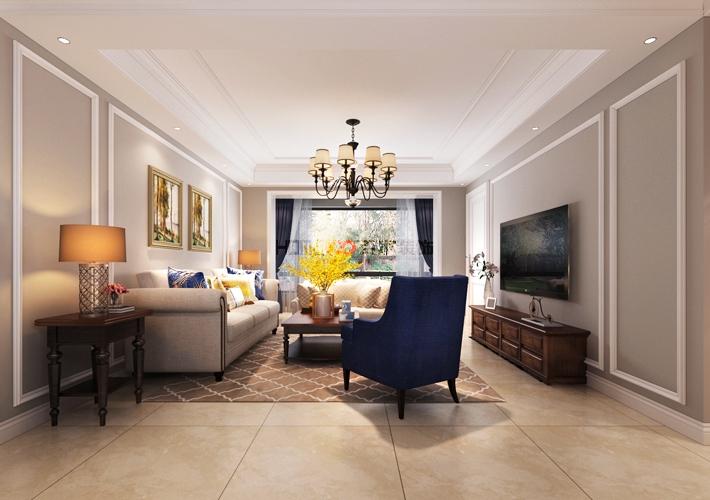 美式风格 沈阳装修 室内设计 80后 三居室 客厅图片来自百家装饰--小莹在格林玫瑰湾 140平美式风格的分享