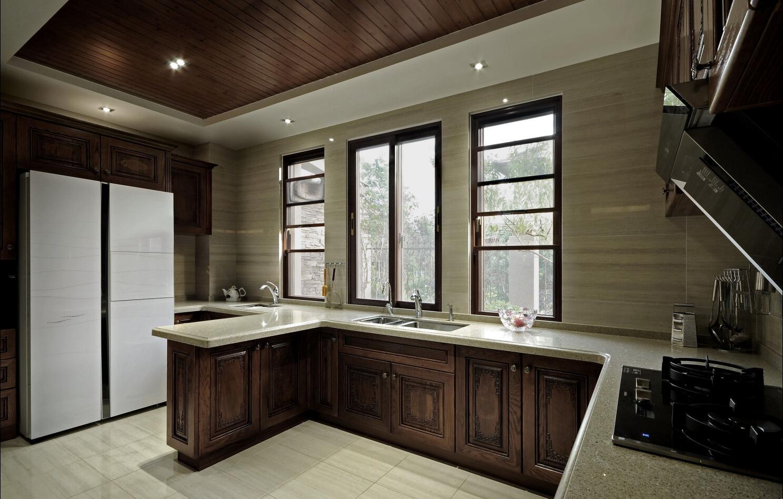 恒联名人世 别墅装修 新中式设计 腾龙设计 厨房图片来自腾龙设计在青浦赵巷恒联名人世家别墅设计的分享