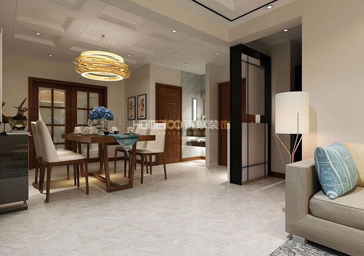 三居 现代风格 龙湖唐宁on 餐厅图片来自百家设计小刘在龙湖唐宁one112平现代风格的分享