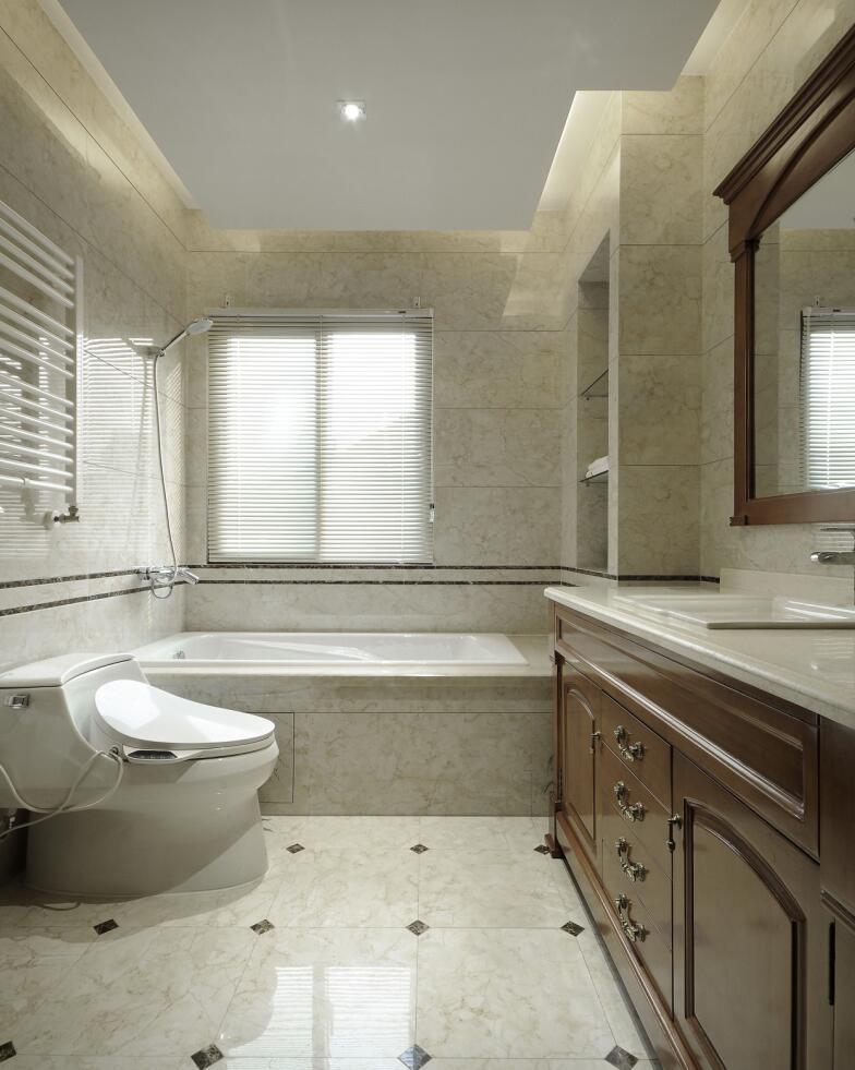 恒联名人世 别墅装修 新中式设计 腾龙设计 卫生间图片来自腾龙设计在青浦赵巷恒联名人世家别墅设计的分享