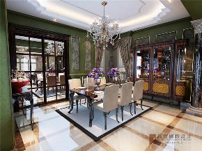 欧式 别墅 复式 跃层 大户型 高帅富 温馨 餐厅图片来自高度国际姚吉智在金科王府360㎡时尚欧式温馨庄重的分享
