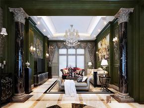 欧式 别墅 复式 跃层 大户型 高帅富 温馨 客厅图片来自高度国际姚吉智在金科王府360㎡时尚欧式温馨庄重的分享