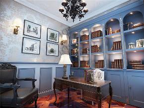 欧式 别墅 复式 跃层 大户型 高帅富 温馨 书房图片来自高度国际姚吉智在金科王府360㎡时尚欧式温馨庄重的分享