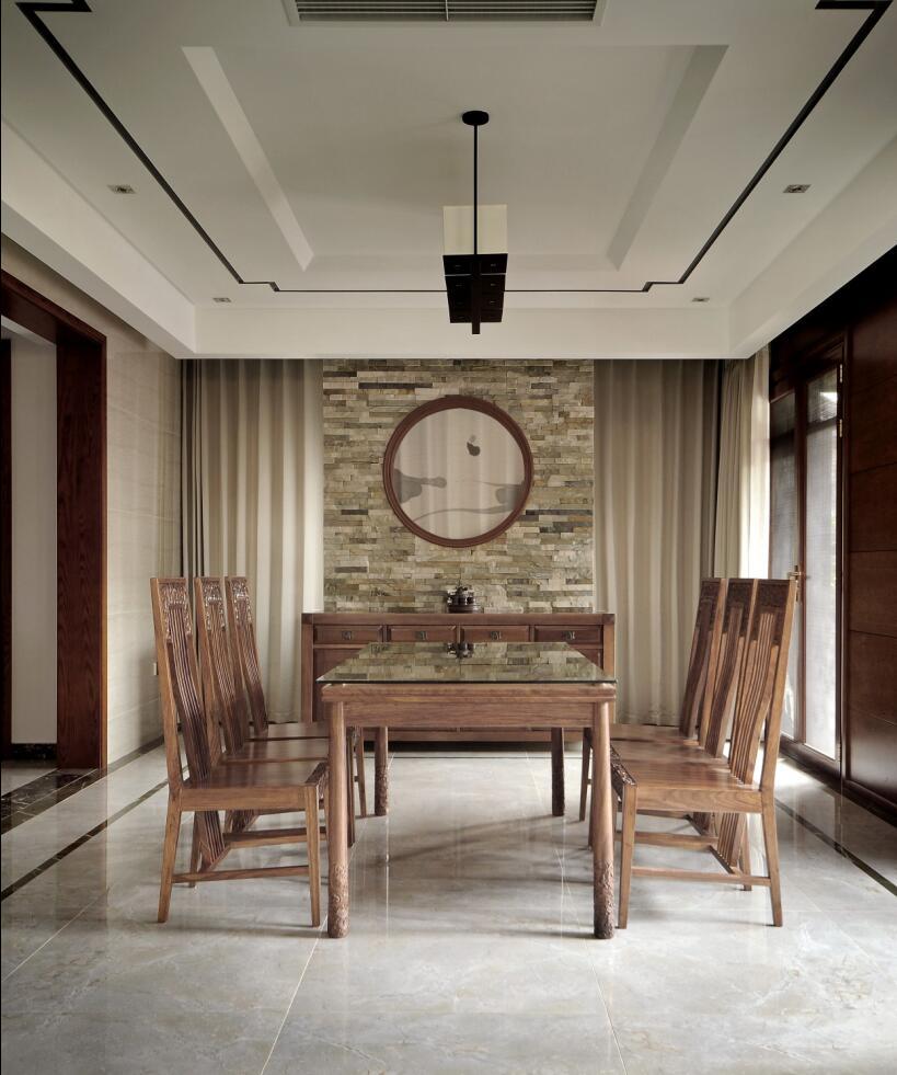 恒联名人世 别墅装修 新中式设计 腾龙设计 餐厅图片来自腾龙设计在青浦赵巷恒联名人世家别墅设计的分享
