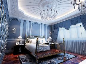 欧式 别墅 复式 跃层 大户型 高帅富 温馨 卧室图片来自高度国际姚吉智在金科王府360㎡时尚欧式温馨庄重的分享