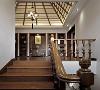 青浦赵巷恒联名人世家独栋别墅装修新中式风格设计方案展示,上海腾龙别墅设计作品!