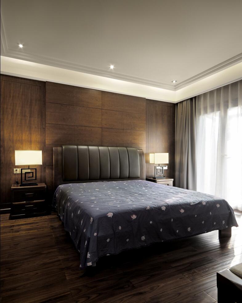 恒联名人世 别墅装修 新中式设计 腾龙设计 卧室图片来自腾龙设计在青浦赵巷恒联名人世家别墅设计的分享