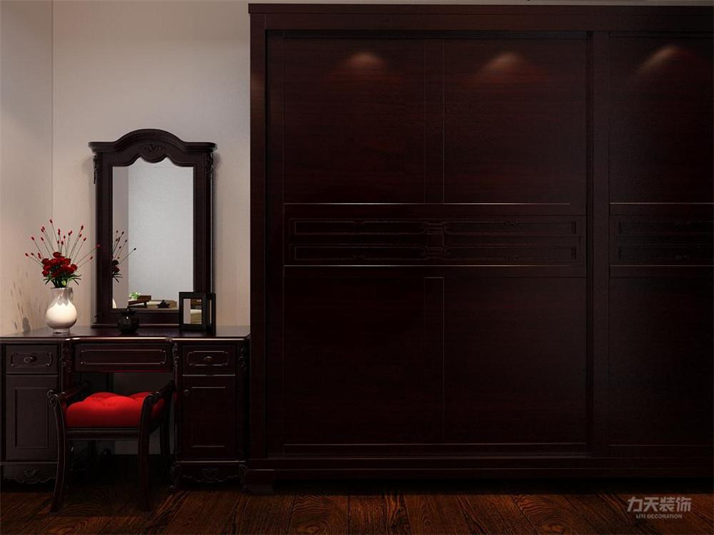 三居 收纳 简约 卧室图片来自阳光放扉er在力天装饰-港利新城-90㎡-新中式的分享
