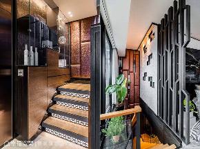 跃层 现代 楼梯图片来自幸福空间在165平跃层 「石」在工艺居家会所的分享