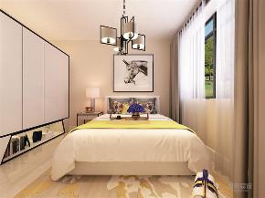 简约 现代 二居 采光 温馨 卧室图片来自阳光力天装饰在力天装饰-金地艺境-80㎡的分享