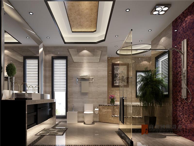 中式 别墅 跃层 大户型 复式 高帅富 80后 卫生间图片来自高度国际姚吉智在观塘1000㎡轻奢中式别墅宅院的分享