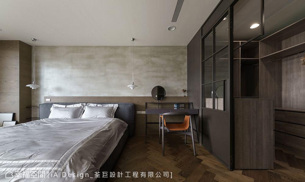 三居 混搭 卧室图片来自幸福空间在明亮不拘束 165平简约微工业风的分享