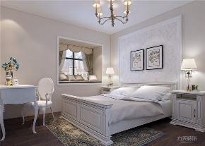 美式 两居室 色彩鲜明 温馨 卧室图片来自阳光力天装饰在力天装饰-金地艺城华府-84㎡的分享