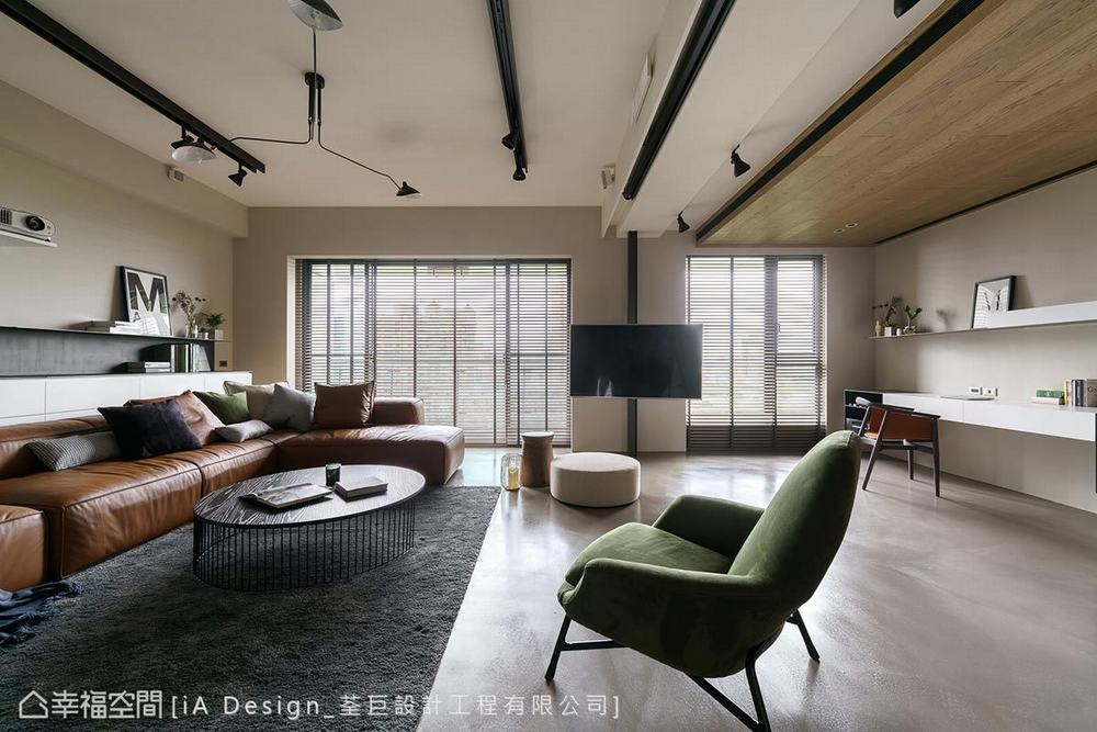 三居 混搭 客厅图片来自幸福空间在明亮不拘束 165平简约微工业风的分享