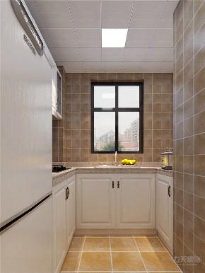 美式 两居室 色彩鲜明 温馨 厨房图片来自阳光力天装饰在力天装饰-金地艺城华府-84㎡的分享