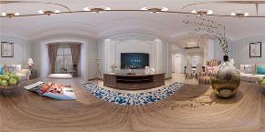 美式 两居室 色彩鲜明 温馨 客厅图片来自阳光力天装饰在力天装饰-金地艺城华府-84㎡的分享