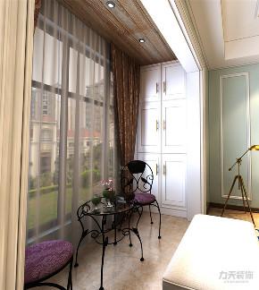 美式 两居室 色彩鲜明 温馨 阳台图片来自阳光力天装饰在力天装饰-金地艺城华府-84㎡的分享
