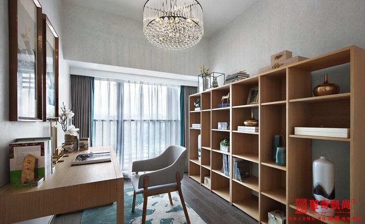 简约 别墅 白领 80后 新中式 书房图片来自圣奇凯尚室内设计工作室在极简生活哲学--新中式的分享