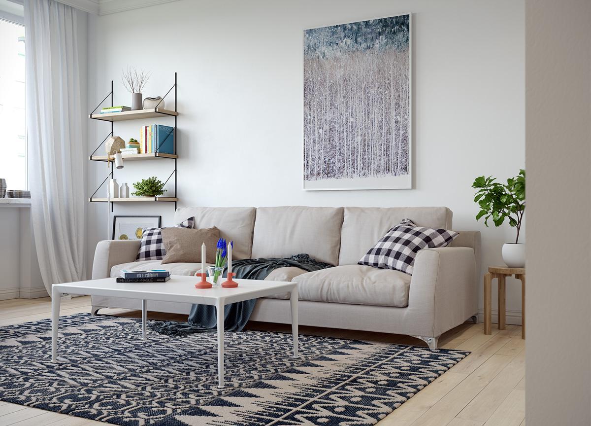 三居 欧式 峰光无限 客厅图片来自西安峰光无限装饰在秦岭北麓三居95平北欧风格设计的分享