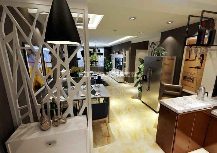 三居 外滩三号 现代风格 客厅图片来自百家设计小刘在外滩三号120平现代风格半包4.5万的分享