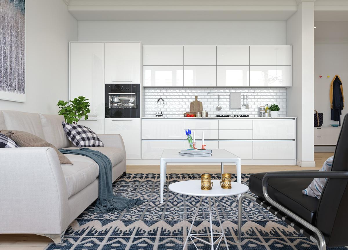 三居 欧式 峰光无限 厨房图片来自西安峰光无限装饰在秦岭北麓三居95平北欧风格设计的分享