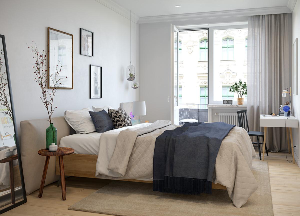 三居 欧式 峰光无限 卧室图片来自西安峰光无限装饰在秦岭北麓三居95平北欧风格设计的分享