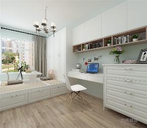 简约 现代 三居 温馨 年轻 卧室图片来自阳光力天装饰在力天装饰-海御园-90㎡的分享