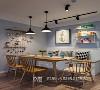 餐厅的一侧安装了可坐式储物柜,上方则放置了便捷置物架和业主最喜欢的一幅画,最大限度的利用了餐厅空间。