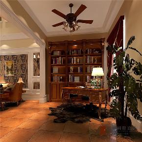 欧式 新古典 复式 跃层 大户型 别墅 小资 书房图片来自高度国际姚吉智在合景领峰170㎡欧式古典别样奢华的分享