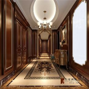 美式 复式 跃层 别墅 大户型 四居 小资 玄关图片来自高度国际姚吉智在V7西园200㎡美式优雅迷人情调的分享