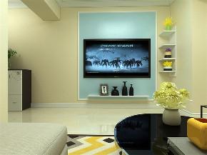 简约 现代 二居 布局完美 温馨 客厅图片来自阳光力天装饰在力天装饰-植物园东里-58㎡的分享