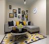 客厅作为待客区域,要明快光鲜,用白色石膏线蓝色石膏板电视墙实用美观,使整体上有一种宽敞而富有现代时尚气息。墙面采用米黄乳 胶漆,这样使视觉上具有层次感,色彩也更加温馨舒适。