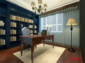 简约 美式 地中海 混搭 三居 书房图片来自圣奇凯尚室内设计工作室在圣奇凯尚装饰-润泽公馆装修案例的分享