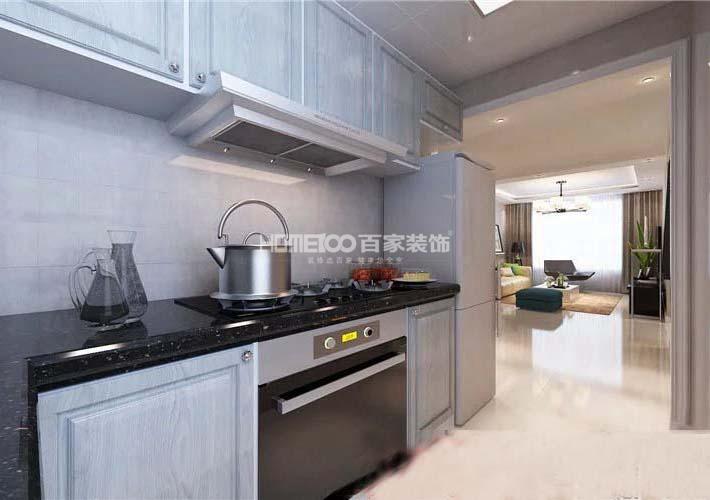 二居 客厅 厨房图片来自百家装饰小西在广厦绿园94平现代风格的分享