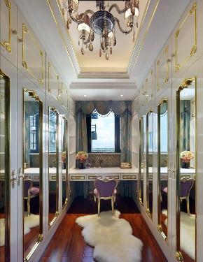 首开熙悦郡 欧式 小资 衣帽间图片来自别墅设计师杨洋在优雅奢华欧式设计的分享