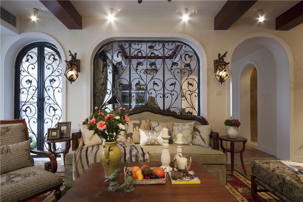 三居 美式 峰光无限 客厅图片来自西安峰光无限装饰在群贤道九号三室137平美式风格的分享