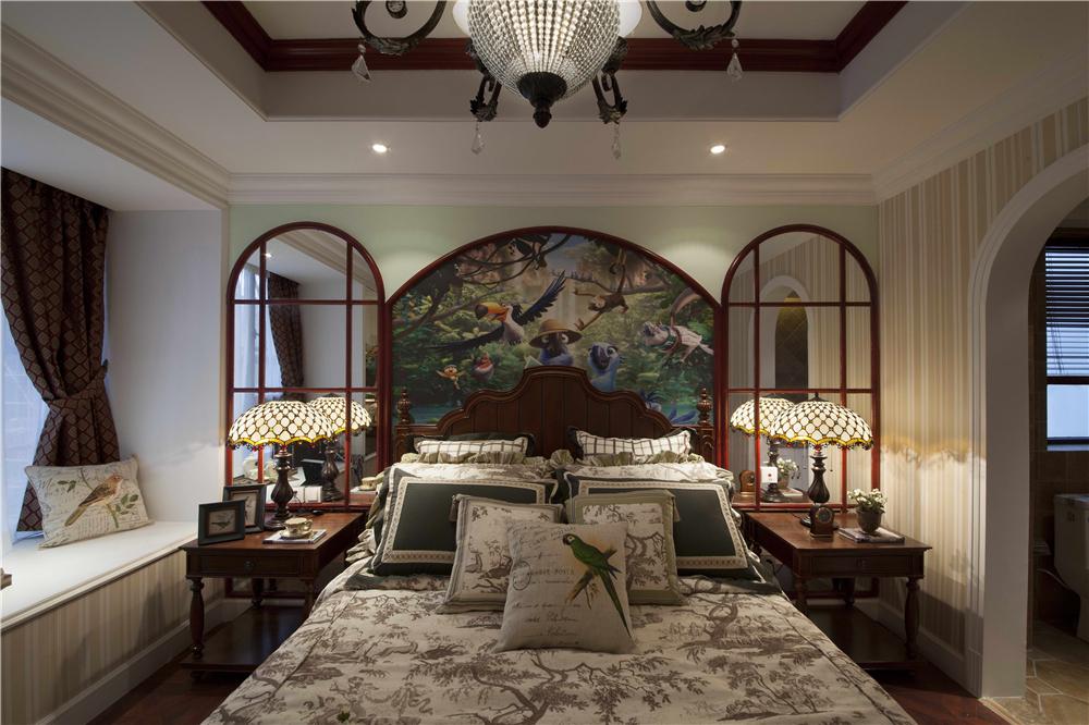 三居 美式 峰光无限 卧室图片来自西安峰光无限装饰在群贤道九号三室137平美式风格的分享