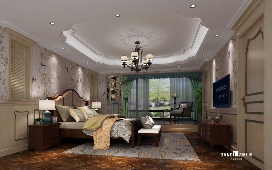 别墅 美式风格 卧室图片来自杜鸿业----名雕丹迪设计总监在龟山别墅--460平--美式风格的分享