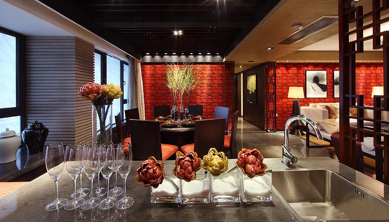 三居 中式 峰光无限 餐厅图片来自西安峰光无限装饰在华润・二十四城三居135平中式的分享