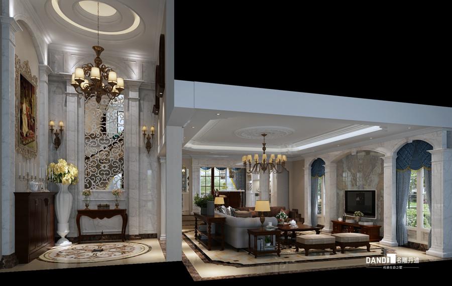别墅 美式风格 客厅图片来自杜鸿业----名雕丹迪设计总监在龟山别墅--460平--美式风格的分享