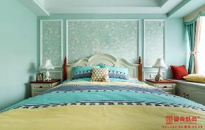 简约 田园 三居 白领 收纳 地中海 卧室图片来自圣奇凯尚室内设计工作室在圣奇凯尚装饰--世华泊郡的分享