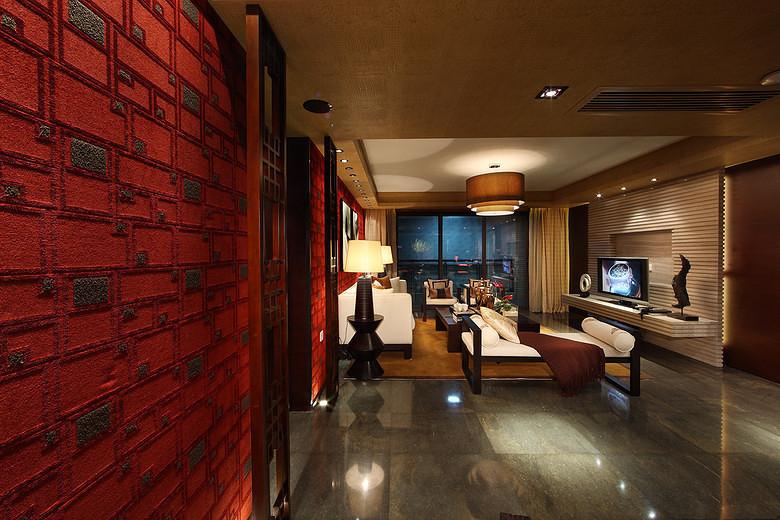 三居 中式 峰光无限 客厅图片来自西安峰光无限装饰在华润・二十四城三居135平中式的分享