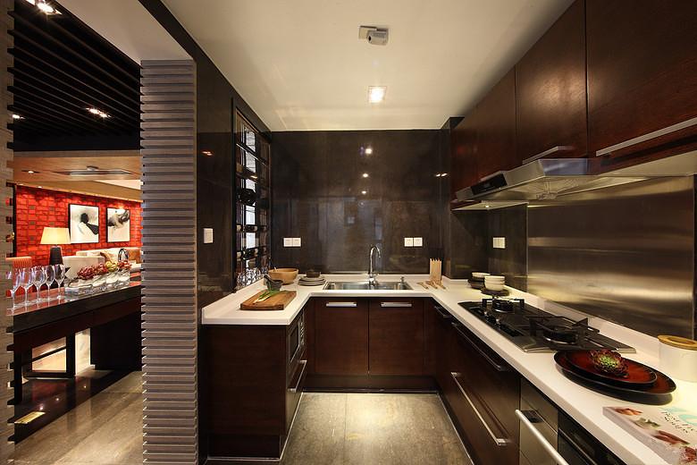 三居 中式 峰光无限 厨房图片来自西安峰光无限装饰在华润・二十四城三居135平中式的分享