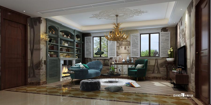 别墅 美式风格 书房图片来自杜鸿业----名雕丹迪设计总监在龟山别墅--460平--美式风格的分享